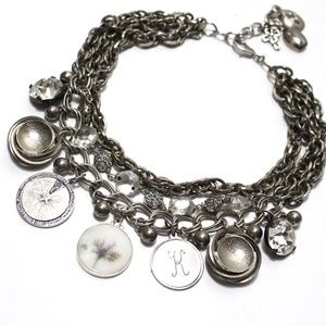 All About Silver Statement Necklace Repurposed